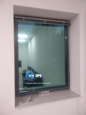Окно пулестойкое с воздушным клапаном 3+