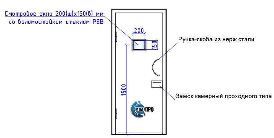 Комплектация (вариант 2) - внутренние двери усиленной конструкции серии «БЛАНШ-ФМС-2»